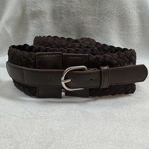 LOFT Brown Braid Stretch Belt (M/L) #768